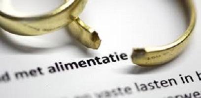 Ontbinding huwelijk en alimentatie